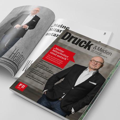 Magazingestaltung Druck & Medien